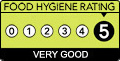 Anaz has a 5-Star Food Hygiene Rating.